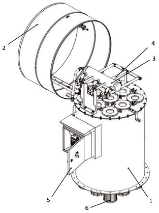 Фильтры серии SFB применяются для аспирации силосов