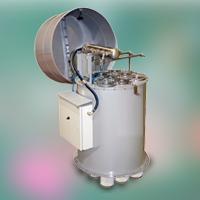 Силосный напорный фильтр с цилиндрическими  картриджами и с импульсной продувкой SFB